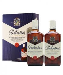 BỘ HAI CHAI RƯỢU BALLANTINE FINEST BLENDED SCOTCH WHISKY